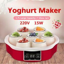 1.7L Yoghurt Maker w/Timer & 7 Glass Jars Automatic Smart Touch Screen Control