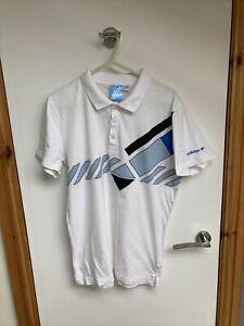 """Adidas Ivan Lendl DOMINANT Tennis Polo Shirt SMALL 2010 PTP 20"""" vtg USED edberg"""