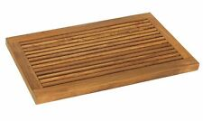 Bare Decor Dasha Spa Bath or Door Mat in Solid Teak Wood Oiled Finish, Large: 31