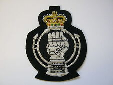 Royal Armoured Corps Wire Embroidered Bullion Blazer Badge - British Army