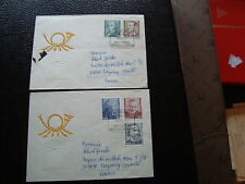 ALLEMAGNE RDA 2 lettres 26/3/74 - timbre stamp germany (cy1)