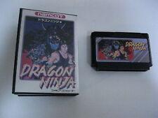 Dragon Ninja Famicom NES game Nintendo Import Video game fc bad dudes complete