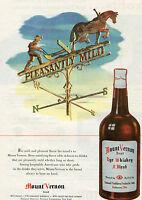 1947 Mount Vernon Brand Rye Whiskey Print Ad