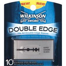 Wilkinson Sword Stainless Steel Double Edge - 10 Blades + Makeup Sponge