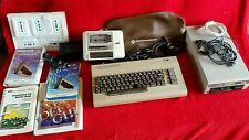 Commodore 64 Computer System 1541 Disk Drive C2N Cover, cables, books, Software