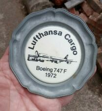 1980s Lufthansa Cargo Promotional Pin DIsh
