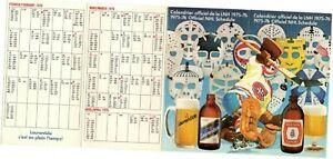 1975-76 Montreal Canadiens / Molson Beer sponsored NHL Hockey Pocket Schedule