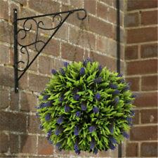 Lavender Flower Artificial Buxus Topiary Balls Hanging Basket Plant  Purple