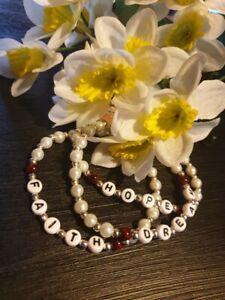 FAITH HOPE DREAM triple bracelet pack handmade for charity Xmas gift