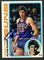 Alvan Adams #77 signed autograph auto 1978-79 Topps Basketball Trading Card