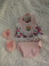 Baby Stella doll clothes only/15 inch/diaper/bib/dress/booties/handmade