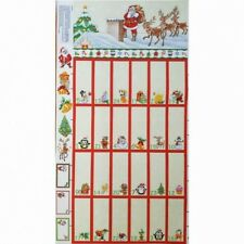 100% Cotton Patchwork Fabric Christmas Eve Santa Advent Calendar Panel (Nutex)