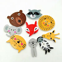 NE_ HD_ ALS_ 50Pcs Mixed Animal Scrapbooking Decor Sewing 2 Holes Wooden Buttons