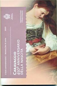 San Marino 2 € Euro GM 2021 450. Geburtstag Caravaggio BU im Folder