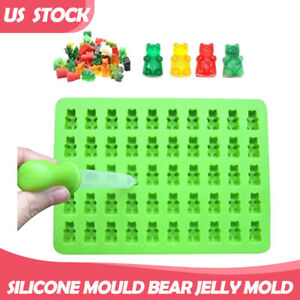 50 Cavity Silicone Gummy Bear Chocolate Mould Candy Maker Ice Tray Jelly Moulds