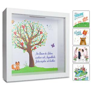 Spardose Lebensbaum I Taufgeschenk Mädchen Junge Sparschwein Taufe Geld Geschenk