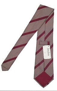 NEW Turnbull & Asser Silk Tie!   Gold, Burgundy or Pink   Colorful Stripes