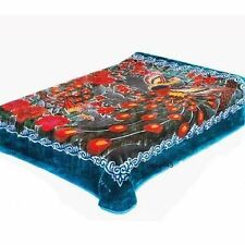 Solaron blanket original Korean licensed heavy throw thick plush queen Peacock