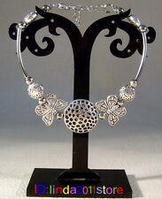 New Beautiful Tibetan silver jewelry women girl butterfly bracelet bangle