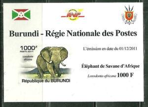 BURUNDI 851A MNH SOUVENIR SHEET ELEPHANTS SCV 3.75