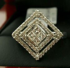 STATEMENT RING WITH DIAMOND 0.70 TCW IN 14K WHITE GOLD SZ 7