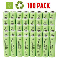 Lot AA Rechargeable Batteries NiCd 700mAh 1.2v Ni-Cd AA Battery for Garden Light
