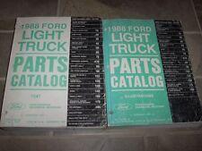 1988 Ford F150 F250 F350 F-Series Pickup Truck Parts Catalog Manual Diesel Gas
