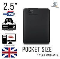 """EXTERNAL HDD HARD DRIVE 2.5"""" USB 1TB 2TB WESTERN DIGITAL 3.0 XBOX PS3/4 LAPTOPS"""
