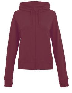 Ex M*S Burgundy Cotton Rich Zip Through Hoodie Size 18 (P26.18)
