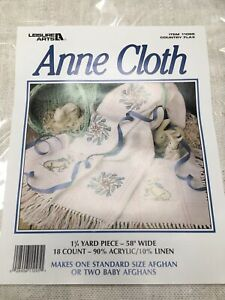 Anne Cloth 18 Count Country Flax 45x58 Baby Afghan Blanket Bunnies in the Garden