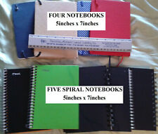 Lot Of 9 Small Notebooks 5in X 7in Spiral Amp Journal Excellent Condition Nr