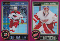 14-15 OPC Eric Staal /135 Red Prism O-Pee-Chee Hurricanes 2014