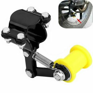 Universal Bolt On Chain Tensioner & Yellow Roller Adjuster Motorcycle Motorbike