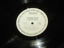 "Tyrone Davis ""Love and Touch"" LP WHITE LABEL PROMO"