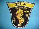 VIETNAM WAR PATCH, US 257th MEDICAL DETACHMENT DENTAL SERVICES