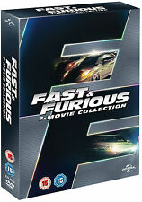 Fast and Furious 1 2 3 4 5 6 & 7 1-7 Complete Collection BOXSET DVD