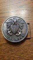 "US Navy Eagle 1976 Belt Buckle. 3 1/4"". Nice heavy buckle. American Antique Corp"