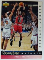 1992-93 Upper Deck Michael Jordan Best Shooter, #JW1, Jerry West Selects, Bulls