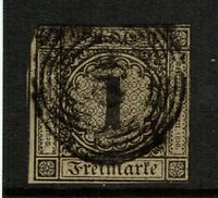 Baden SC# 1, Used (Noted as Mi# 1b) - S4135