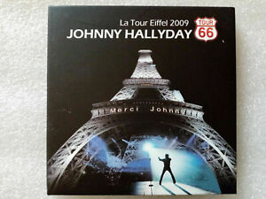 "Johnny Hallyday : ""La tour Eiffel 2009"" (RARE 2 CD)"