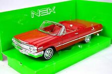 CHEVROLET IMPALA CONVERTIBLE 1963 RED WELLY 22434 1:24 NEW MODEL