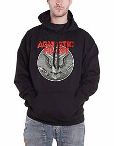 Agnostic Front Hoodie Against All Eagle Logo Official Mens Black Pullover XL