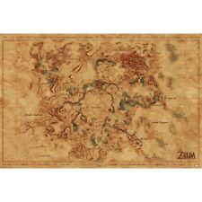 LEGEND OF ZELDA - HYRULE MAP POSTER 24x36 - 3564