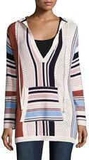 TORY BURCH Gestreifter Kapuzenpullover / Sweatshirts aus Baumwolle, Gr. 40 DE