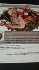 KENNY ROGERS & DOLLY PARTON...Once Upon A Christmas  1984  Orig. Promo Poster Ad
