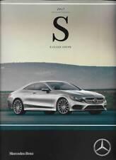 2017 17  Mercedes Benz S Class Coupe  Original  Sales Brochure