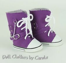 "Purple Canvas High Tops Tennis Shoes Sneakers fit 18"" American Girl Dolls"