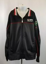 FILA Sport Italia Boy's Full Zip Soccer Jacket Black, Large 14/16▪FREE Shipping!
