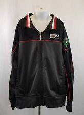 FILA Sport Italia Boy's Full Zip Soccer Jacket Black, Large 14/16