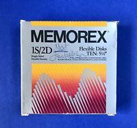 ⭐️Memorex 1S/2D TEN Flexible Disks Single IBM Apple Atari Commodore + OPEN BOX
